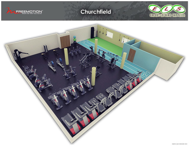 Expert leisure gym layout design